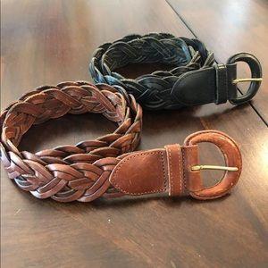 Authentic Coach Medium braided belts